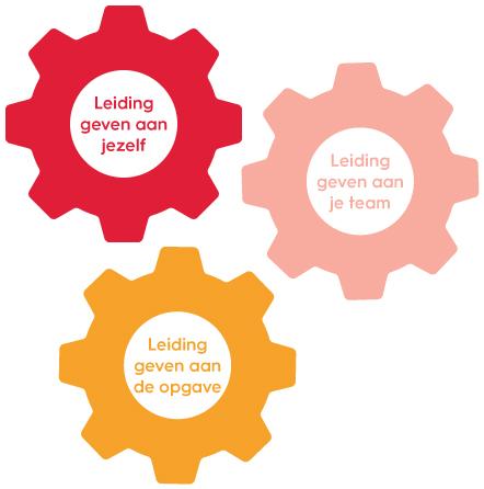 drie elkaar versterkende tandwielen bij leiderschapsontwikkeling