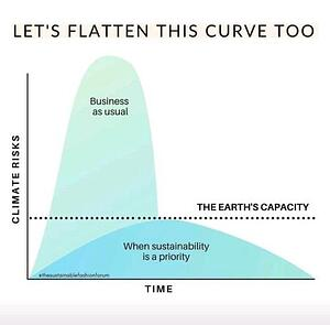 Lets flatten the curve earth day