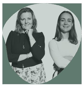 Fenna van Dijk en Eline Lam van Kennedy Van der Laan