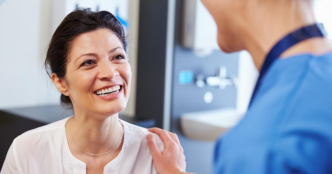 stem van de patient tijdens coronatransitie