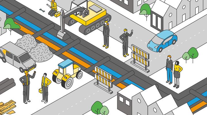 Omgevingsmanagement zorgt voor draagvlak bij aanleg duurzame warmteleiding door stedelijk gebied